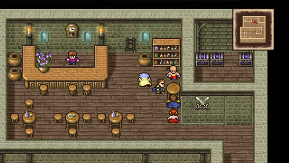 Final Fantasy IV Meeting at a Bar