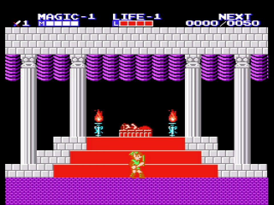 Game & Watch The Legend of Zelda Screenshot of Zelda II