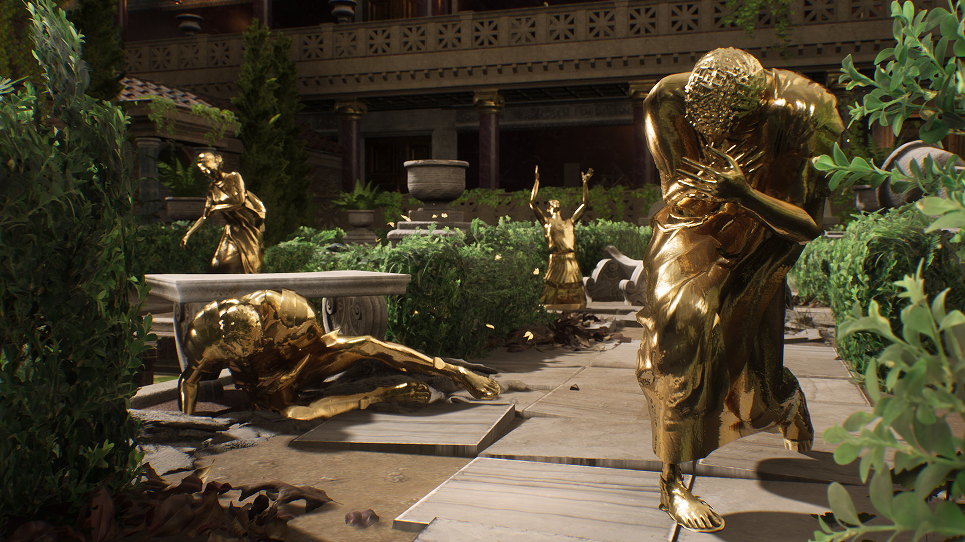 People have mysteriously turned into gold statues in The Forgotten City