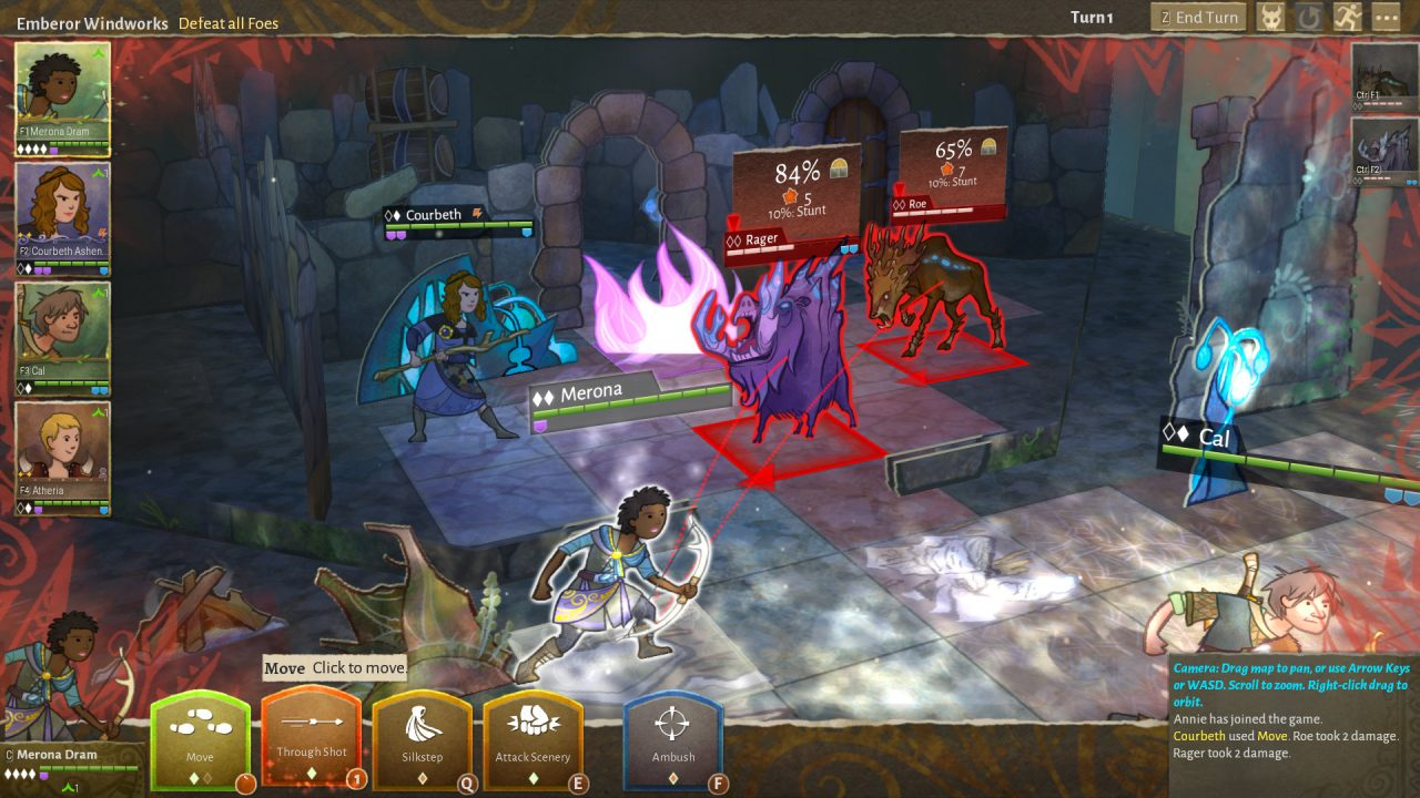 Characters fight monsters in a pop-up background.