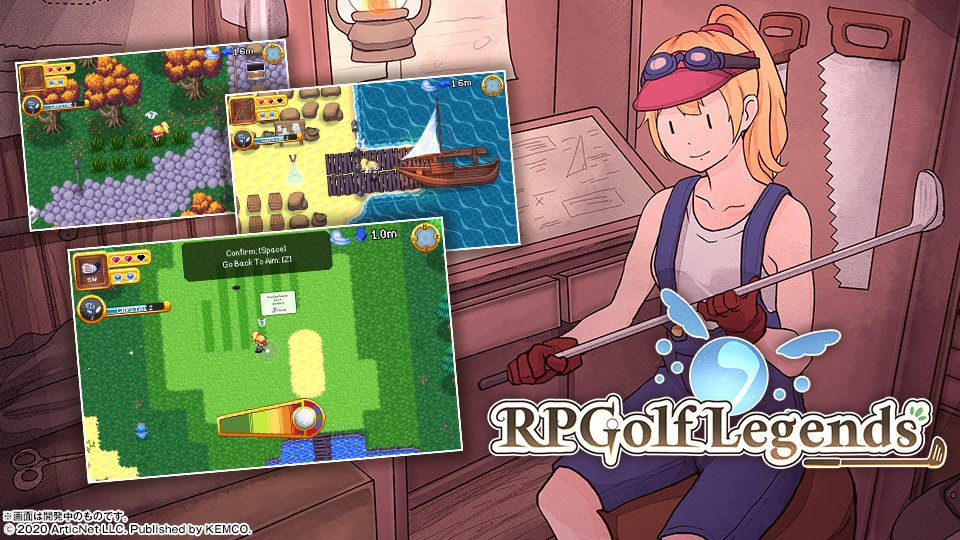 Ready your club in RPGolf Legends