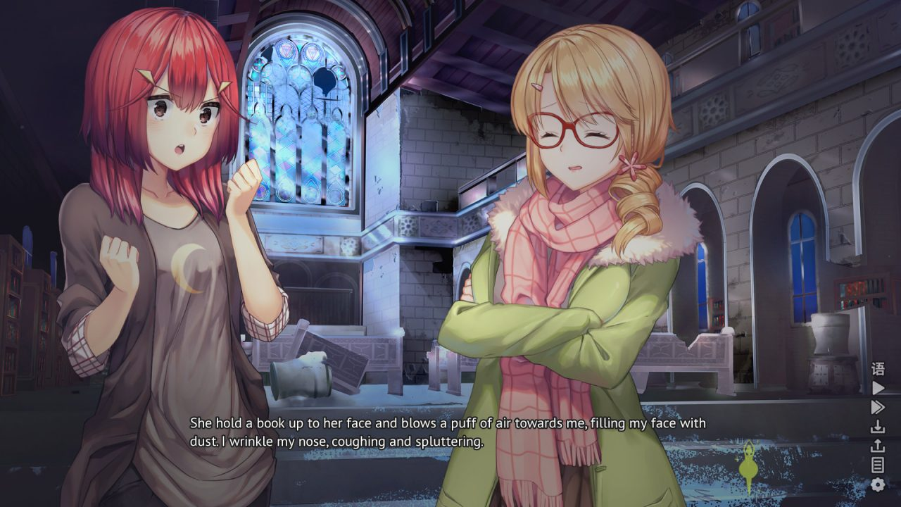 Heart of the Woods Two Characters Converse in a Cutscene Together