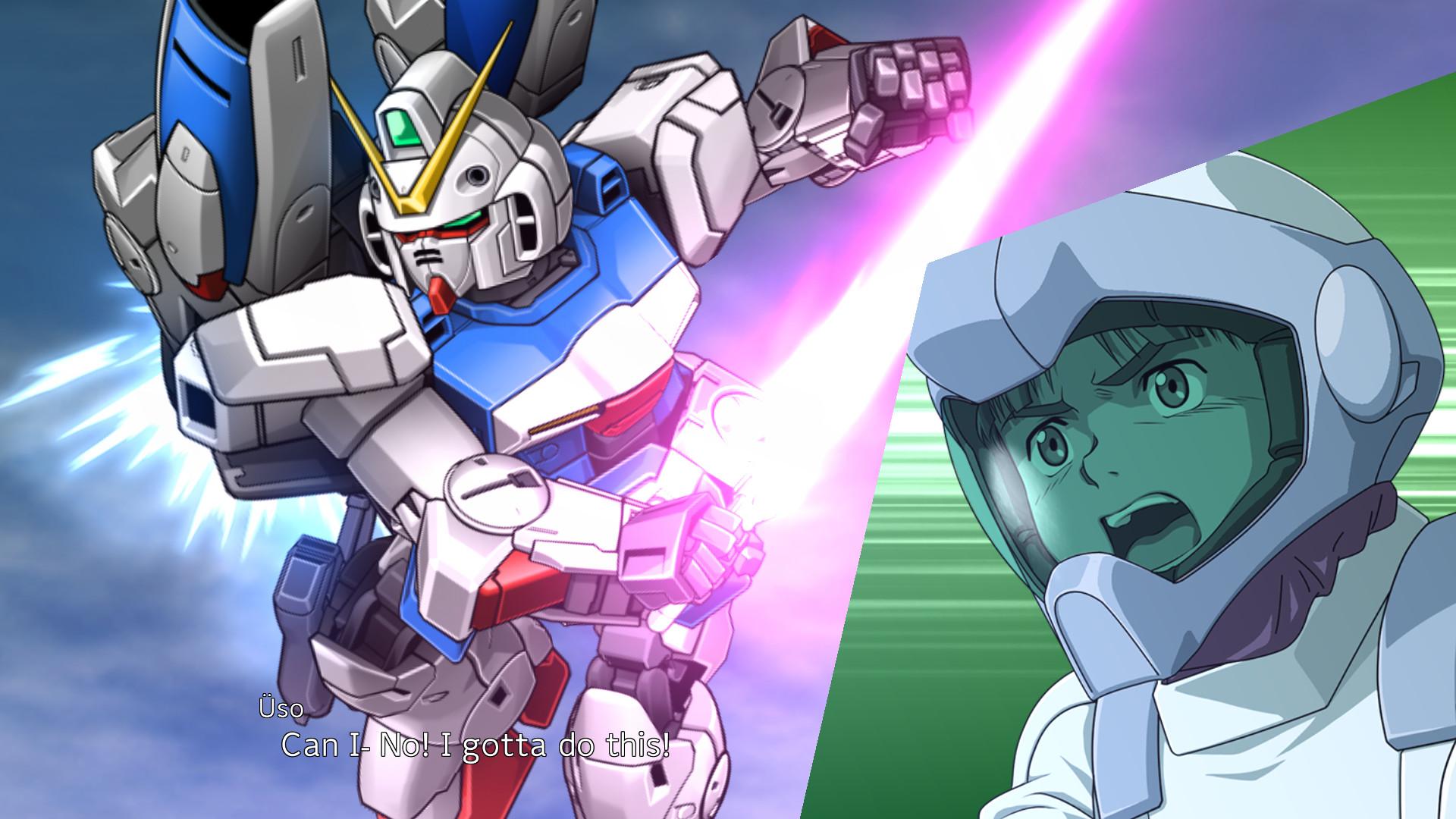 Super Robot Wars 30 Screenshot of Victory Gundam and Uso