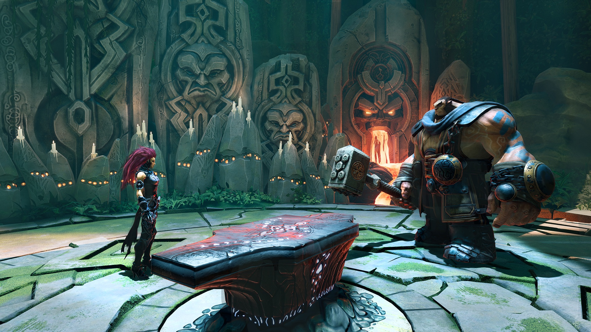 Screenshot From Darksiders III Featuring Fury At Ulthane's Forge