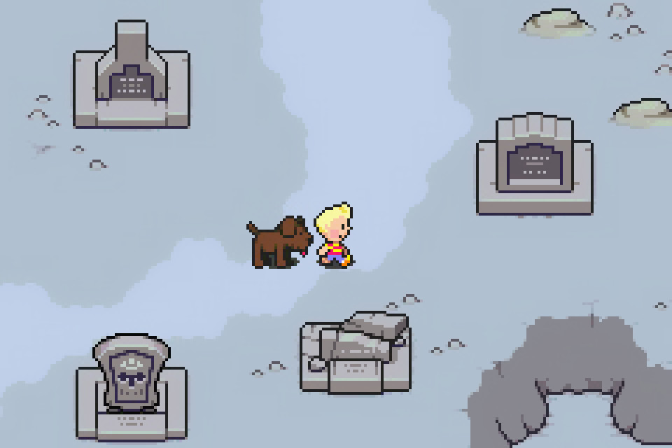 A shot on the map of Lucas in Mother 3.