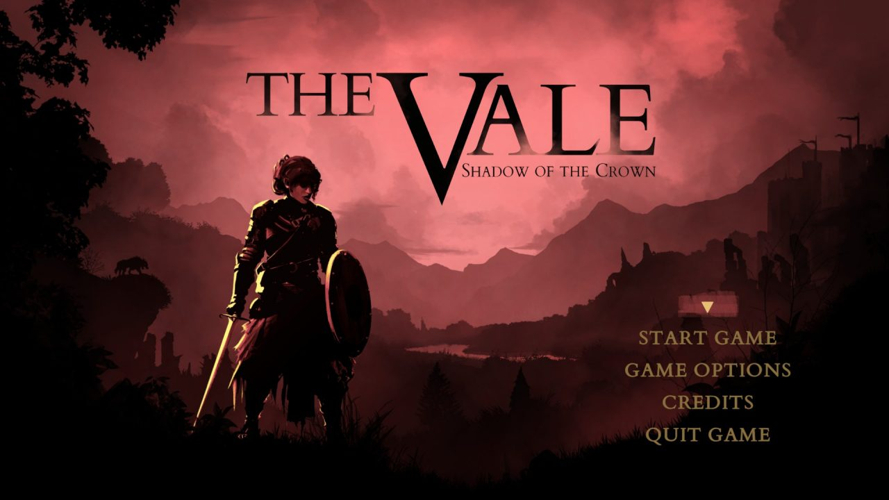 The game's opening title screen with Alex on the left and title options on the right.