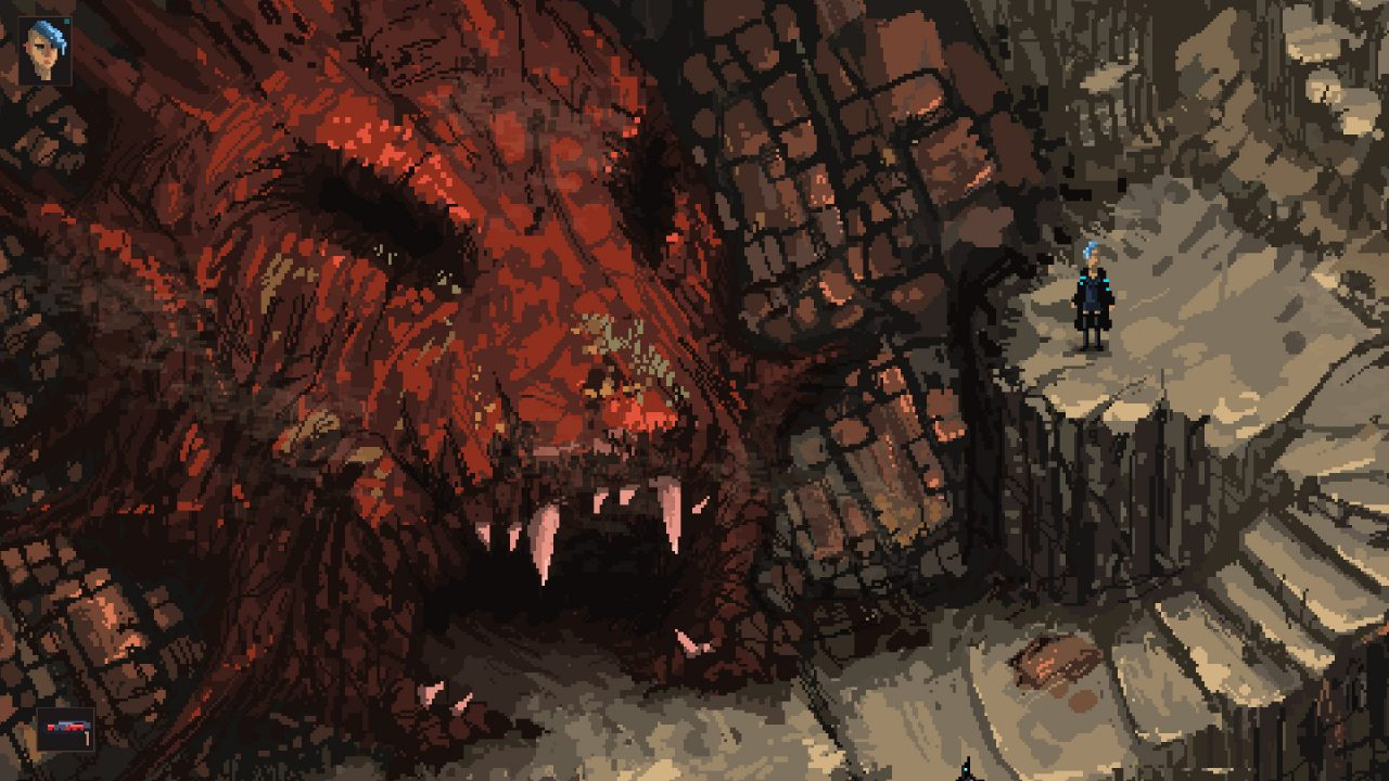 Massive dragon's head cavern opening in Death Trash