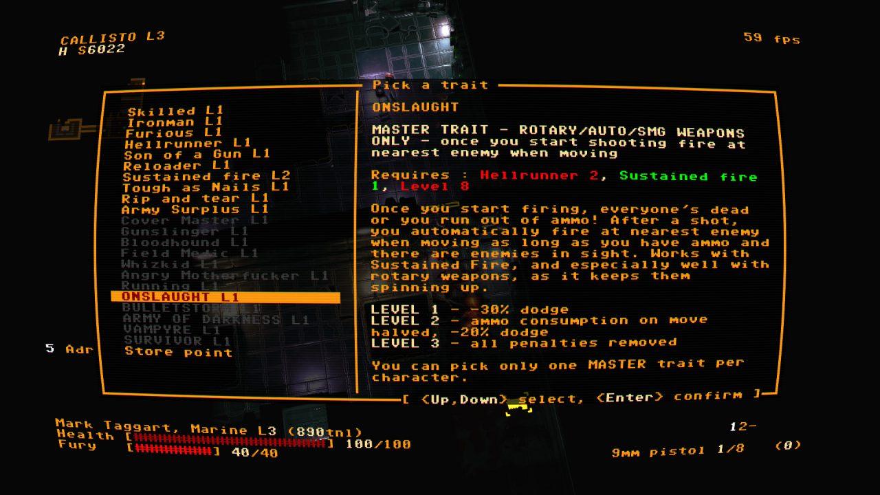 Jupiter Hell Screenshot of Vintage Retro Text