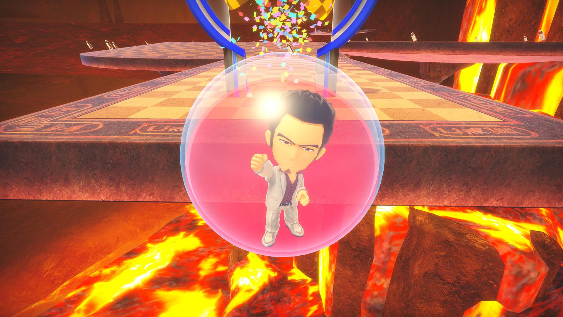 Yakuza's Kazuma Kiryu is indeed trapped inside a Super Monkey Ball