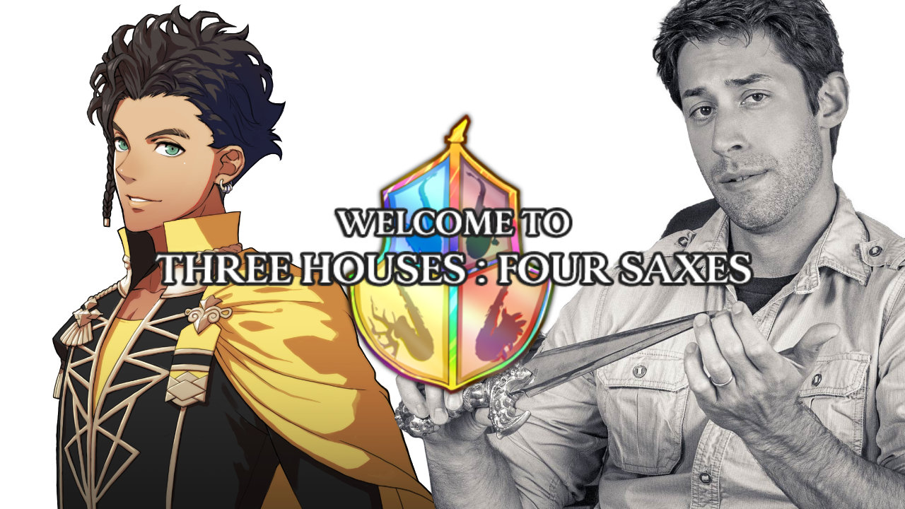 Fire Emblem: Three Houses Four Saxes image of Claude from Fire Emblem and a photo of Joe Zieja.