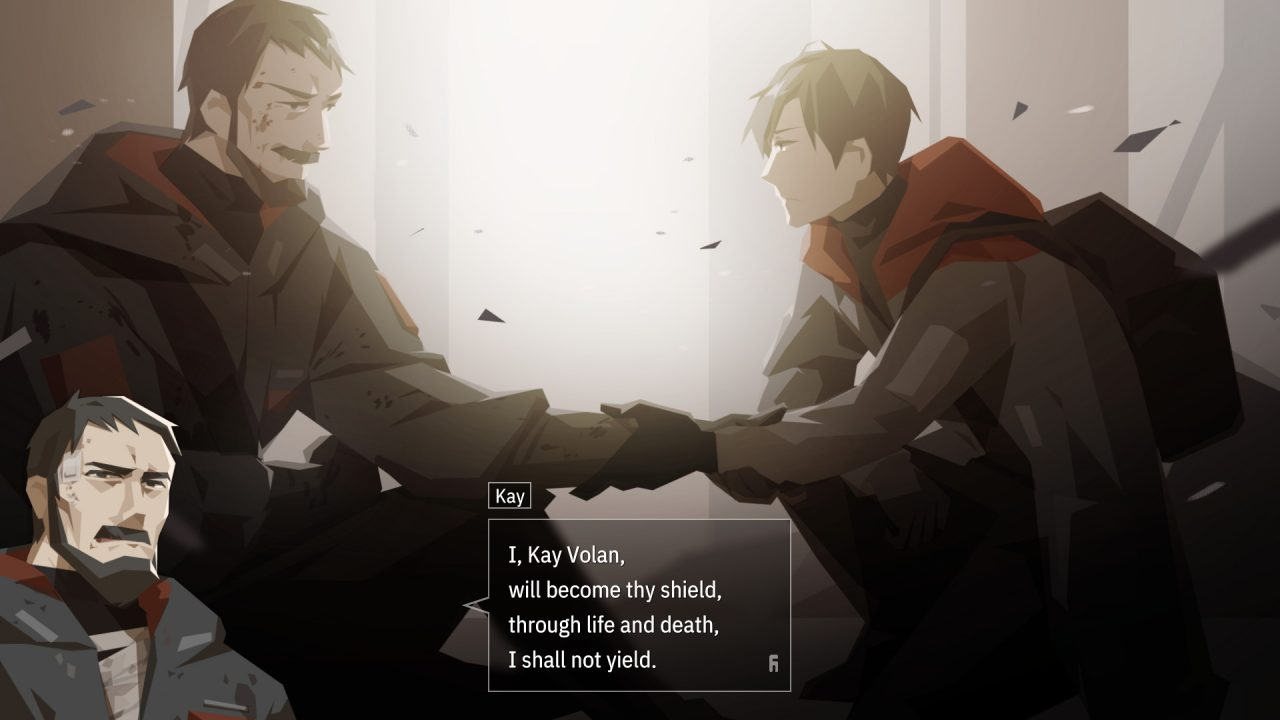 Kay swears his loyalty once again to Jun.