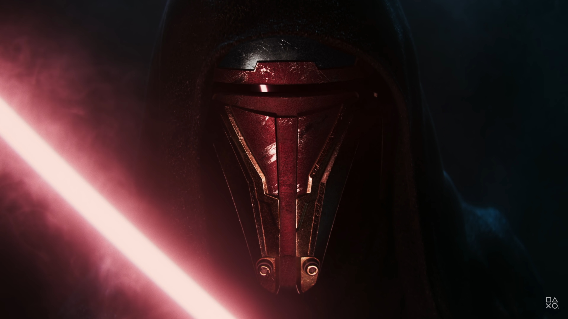 Darth Revan lights up his lightsaber in Star Wars: Knights of the Old Republic Remake.