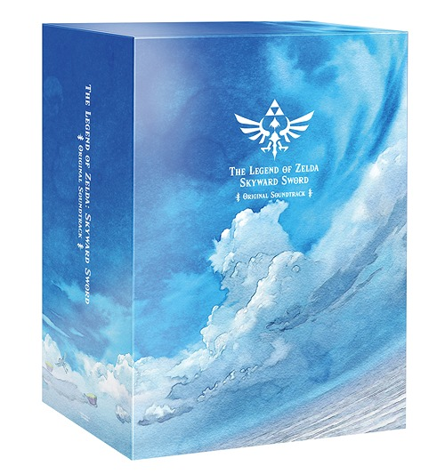 The Legend of Zelda: Skyward Sword Soundtrack Limited Edition Box depicting a blue sky and clouds.