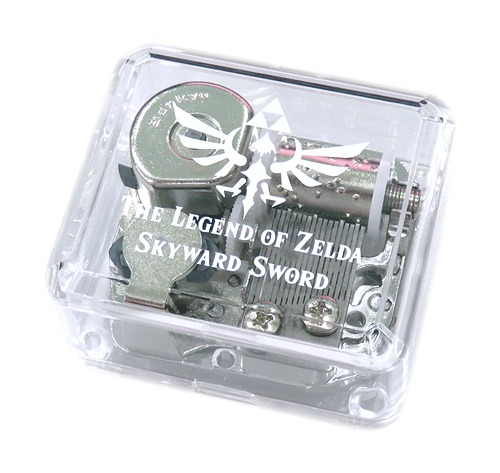 The Legend of Zelda: Skyward Sword Soundtrack Limited Edition - Clear music box with white game logo.